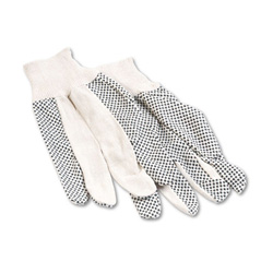 Boardwalk Men's PVC Dotted Canvas Gloves, One Size Fits All, Dozen