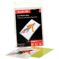 GBC® Premium 4 x 6 Photo Laminating Pouches, 5 Mil, 10/B