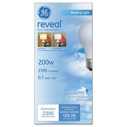 GE Incandescent Bulbs, 200 Watts