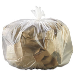 "General Liners High Density Clear Flat-Bottom Trash Bags, 16 Micron, 33"" X 39"", Case of 250"