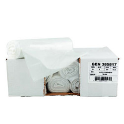 "General Liners High Density Clear Flat-Bottom Trash Bags, 14 Micron, 43"" X 46"", Case of 200"