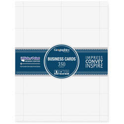 Geographics Recycled Business Cards, 65 lb. Card Stock, White, 350 Cards per Pack