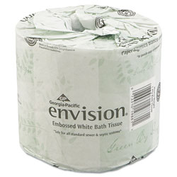 Envision® Embossed Bath Tissue, 2 Ply, White