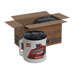 Brawny Disinfecting Wipes in a Bucket