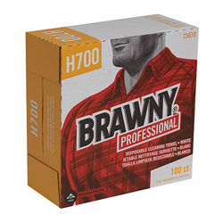 Brawny Heavy Duty Cleaning Wipes, White, Box of 100