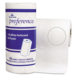 "Georgia Pacific 27315 White Bulk Perforated 2-Ply Roll Paper Towels, 4 4/5"" x 4 4/5"""