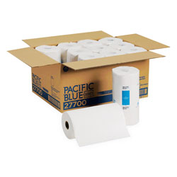 GP Pacific Blue Select Perforated Paper Towel, 8 4/5x11, White, 250/Roll, 12 RL/CT