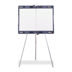 "Ghent MFG Portable Presentation Easel, Extends 23-1/2"" x 35-1/2"" Gray"