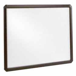 "Ghent MFG Snap Frame, Anti Glare Cover, Acrylic, 24""x36"", Black"
