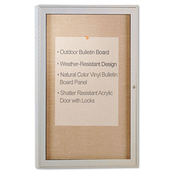 Ghent MFG Satin Finish Enclosed Outdoor Bulletin Board, 36 x 24
