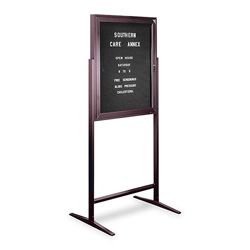 "Ghent MFG Standing Message Center, with Gothic Letters, 68""Tall, 3'x2', Black"