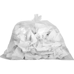 "Genuine Joe Clear Trash Bags, 10 Gallon, 0.6 Mil, 24"" X 23"", Box of 500"