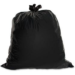 Genuine Joe Black Trash Bags, 30 Gallon, 1.5 Mil, Box of 100