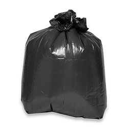 Genuine Joe Black Trash Bags, 33 Gallon, Case of 60