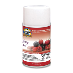 Genuine Joe Aerosol Metered Air Freshener Refills, Berry