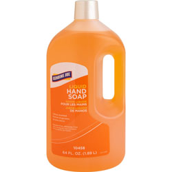 Genuine Joe Antibacterial Moisturizing Citrus Bottled Soap, 64 Oz