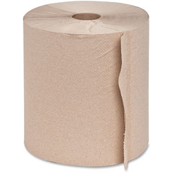 Genuine Joe 22600 Brown Bulk Hardwound Roll Towels, 800'