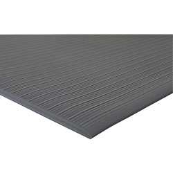 Genuine Joe Beveled Edge Vinyl Anti-Fatigue Mat, 2' x 3', Black