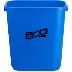Genuine Joe Blue Recycling Wastebasket, 7.1 Gallon