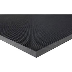 "Genuine Joe Brush Tip Rubber Scraper Mat, 36"" x 72"", Black"