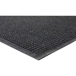 Genuine Joe Indoor/Outdoor Rubber Floor Mat, 5' x 3', Charcoal