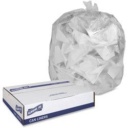 "Genuine Joe High Density Clear Trash Bags, 16 Gallon, 24"" x 31"", Case of 1,000"
