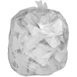Genuine Joe High Density Clear Trash Bags, 33 Gallon, Case of 500