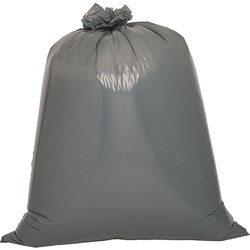 "Genuine Joe Black Flat-Bottom Trash Bags, 55 Gallon, 39"" X 56"", Case of 50"