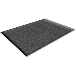 Genuine Joe Nitrile Rubber & Vinyl Vinyl & Rubber Anti-Fatigue Mat, 2' x 3', Black