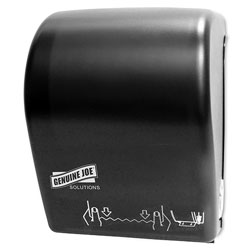 Genuine Joe HR Towels Touchless Dispenser, Black