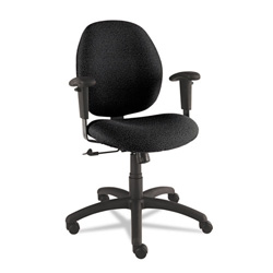 Global Graham Series Swivel Task Chair, Black Fabric