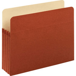 "TOPS Red Rope Letter Size File Pocket with Top Tab, 3 1/2"" Expansion"