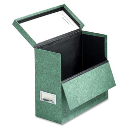 "Cardinal 591-GRE Letter Sized Storage Case, 12 1/8""W x 4 3/4""D x 10 1/8""H, Green Marble"