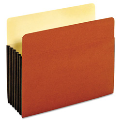 "Pendaflex Drop Front Expanding File Pocket, Top Tab, 5 1/4"", Letter, Brown, 10/Box"