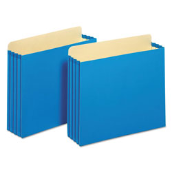 Pendaflex File Cabinet Pockets, Straight Cut, 1 Pocket, Letter, Blue