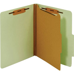 TOPS Classification Folder, 1 Partition, Letter, Green