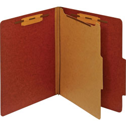 TOPS Classification Folder, 1 Partition, Letter, Red