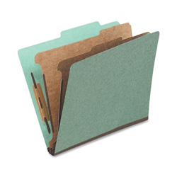 TOPS Classification Folder, 1 Partition, Legal, Green