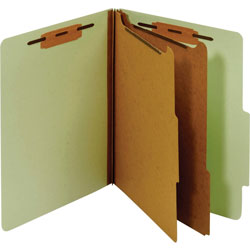 TOPS Classification Folder, 2 Partitions, Letter, Green