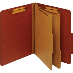 TOPS Classification Folder, 2 Partitions, Letter, Red