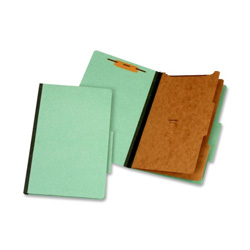 TOPS Classification Folder, 2 Partitions, Legal, Green