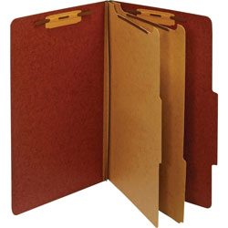 TOPS Classification Folder, 2 Partitions, Legal, Red