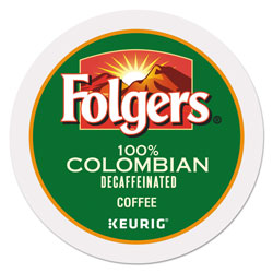 Folgers Gourmet Selections Lively Colombian Coffee K-Cups, Decaf, 24/Box