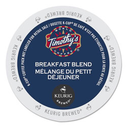 Timothy's Coffees Breakfast Blend Coffee K-Cups, 24/Box