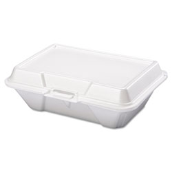 Genpak Foam Container Hinged All-purp White, 100/pk 2/cs