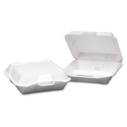 Genpak Foam Container 3 Compartment Xlg White, 200/cs