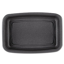 Genpak Microwave Safe Container, 24 OZ, Black, Case of 4