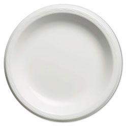 "Genpak Foam Dinner Plate, 9"", White, Case of 4"