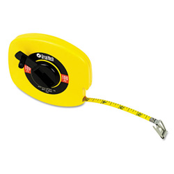 "Great Neck Tools English Rule Measuring Tape, 3/8"" W x 100ft, Steel, Yellow"