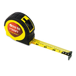 "Great Neck Tools ExtraMark Power Tape, 1"" x 25ft, Steel, Yellow/Black"
